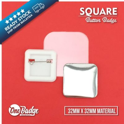 Square Badge Material – 32mm x 32mm