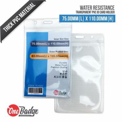 Transparent PVC Card Holder – 75mm x 110mm – Vertical – 2