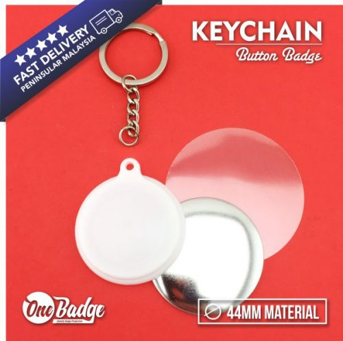 44mm KeyChain Button Badge Material
