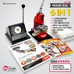 Package Button Badge Machine 6 in 1