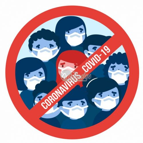 coronavirus button badge theme