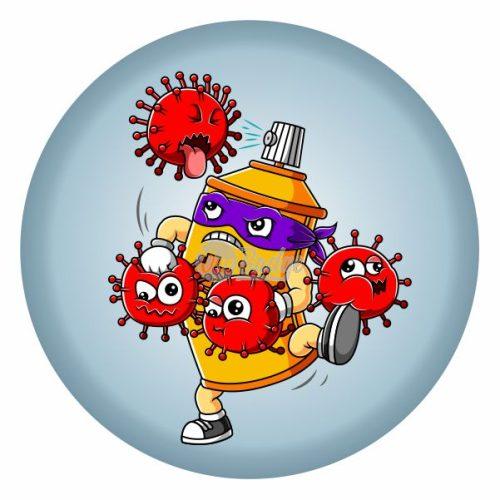 coronavirus button badge theme 6