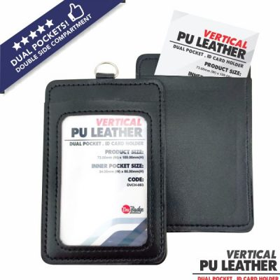 Dual Slot PU Leather Card Holder – Vertical-6