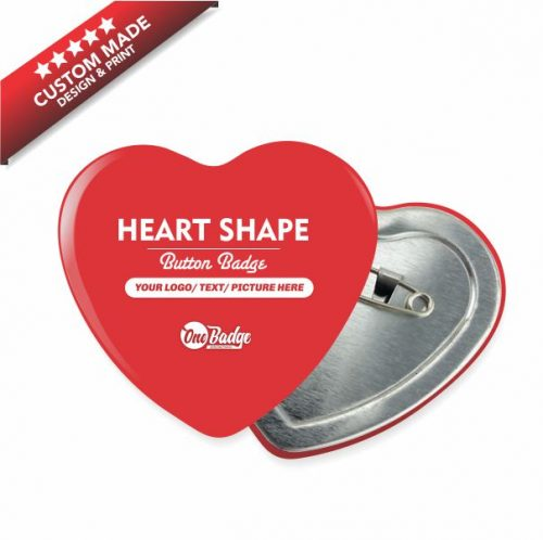 Heart Shape Button Badge