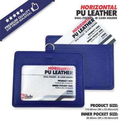 PU Leather Card Holder Double Slot – Horiziontal -7