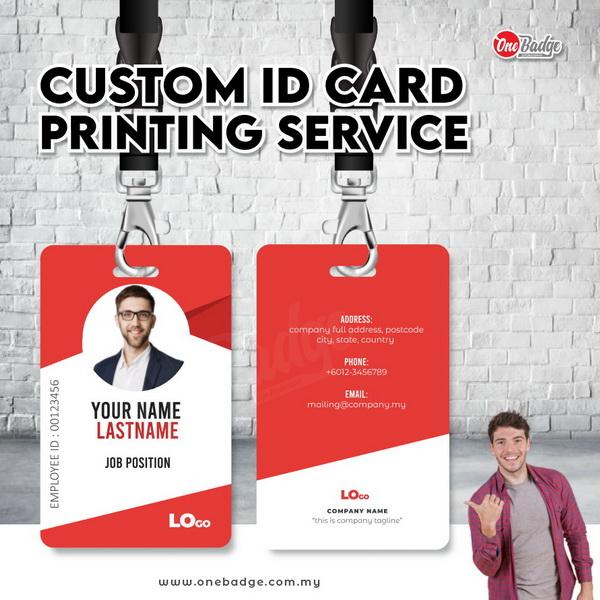 Custom ID card printing service