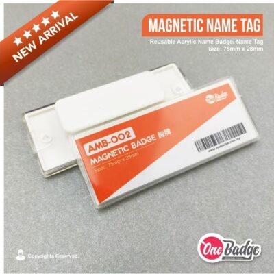 Magnetic Reusable Name Badge – AMB-002