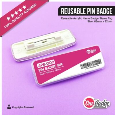 Reusable Pin Badge – APB-002-1