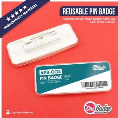 Reusable Pin Badge – APB-003-1